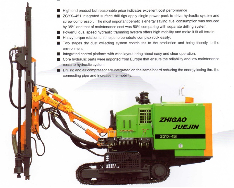 ZGYX-421/451/452 integrated DTH drill rig
